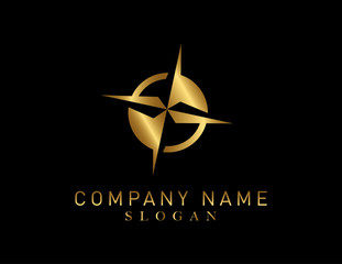 Compass gold color logo