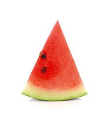 Watermelon sliced on white