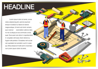 Creative construction  Template Flyer Brochure Vector Paper Design Template for infographics and banners concept