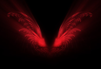 abstract red wings