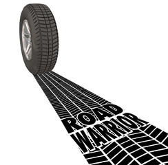 Road Warrior Tire Track Words Traveling Salesman Business Work T
