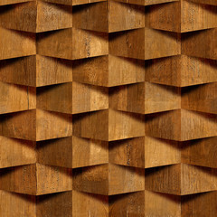 abstract decorative bricks - seamless background - wood texture
