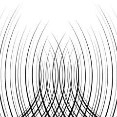 Comic verticall curved speed lines background