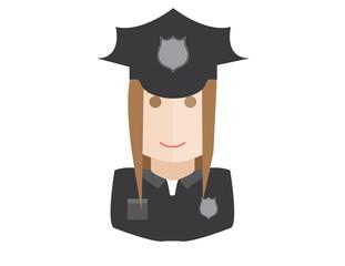 policewoman flat style avatar