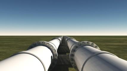 Pipelines unter klarem blauen Himmel