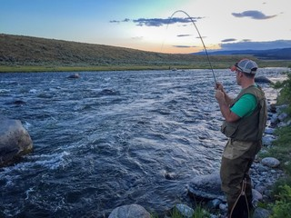 Fly fishing the river