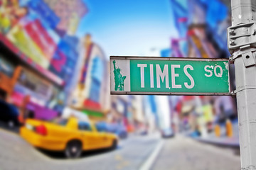 Foto op Canvas New York TAXI Times square sign