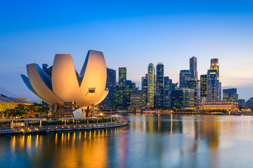 Photo sur Toile Singapoure Singapore Skyline