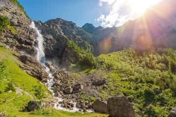 Wall Mural - Adelboden Waterfalls Scenery