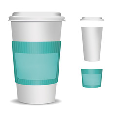 disposable cup over white color background