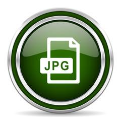 jpg file green glossy web icon