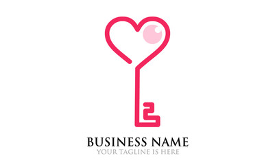 Key of Love - Simple Pink Logo