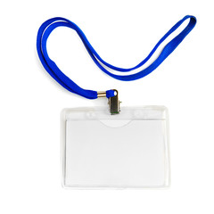 card badge with cord rope