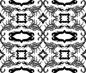 Seamless  pattern with scorpions