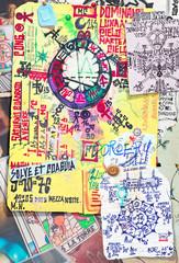 Graffiti,collage and esoteric scrapbooks series