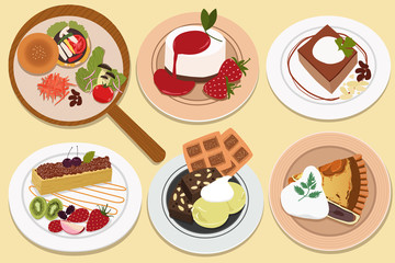 Food and bakery. Japanese style. Vector illustration