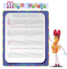 Draw a whole notes
