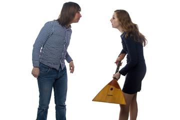 Dispute between a man and woman
