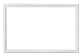 white painted narrow wooden picture frame