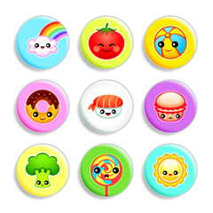 Kawaii badges - Set III