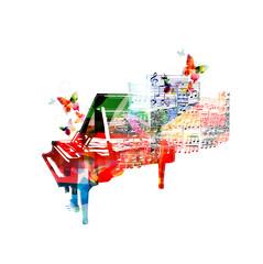 Colorful piano design. Music background