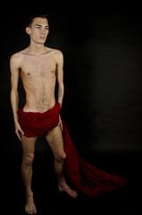 red, man model.