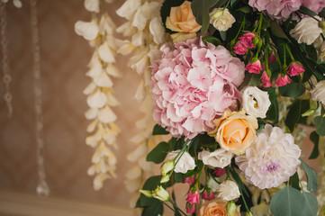 Beautiful mixed flower wedding decoration