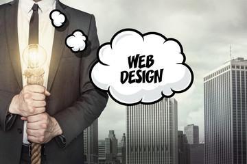 Web design text on speech bubble