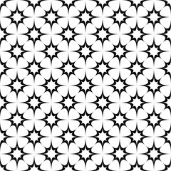 Seamless black white star pattern
