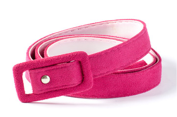 pink belt isolated on white