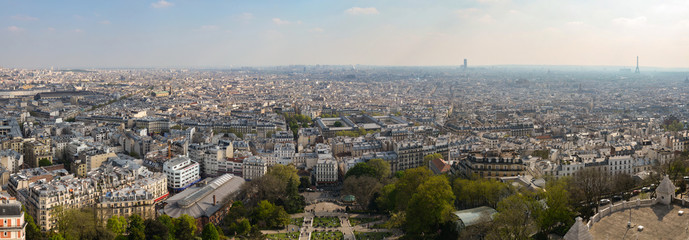 Paris from above, Notre Damme view