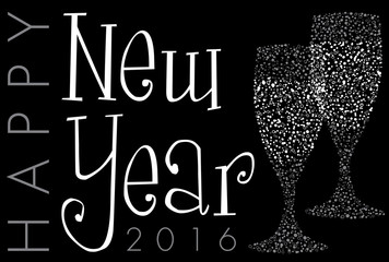 2016 New Year's glasses