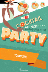 Poster for cocktail party