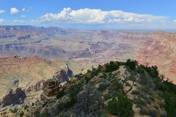 The Grand Canyon National Park in Arizona in late summer