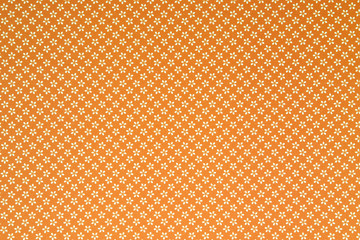 Pattern a fiori bianchi su fondo arancione