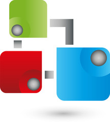 Dienstleistung, IT, Multimedia Logo