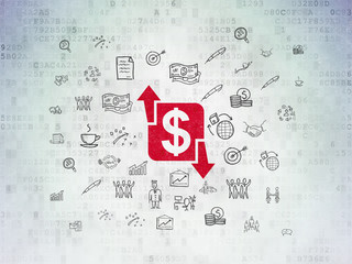 Finance concept: Finance on Digital Paper background