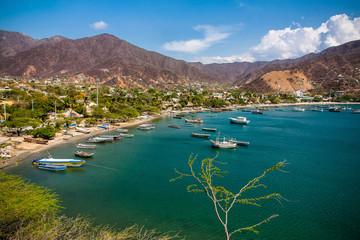 Blick auf Taganga, Santa Marta (Colombia)