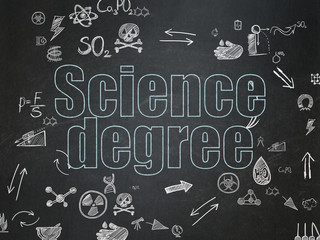 Science concept: Science Degree on School Board background