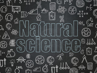 Science concept: Natural Science on School Board background