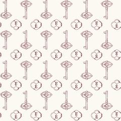 Seamless keys pattern illustration background in vector.