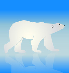 Bear on ice logo