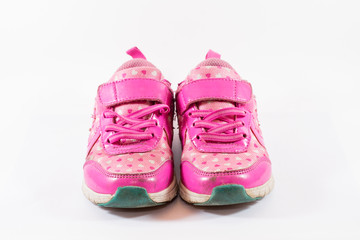 Isolated child's shoes