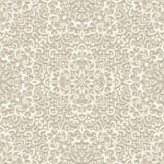 White ornament, seamless pattern