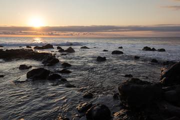 REUNION ISLAND (Indian Ocean) - sunset on the coastline of
