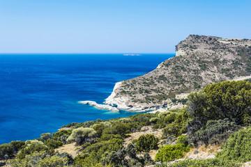 Gerontas beach at Milos island, Cyclades, Greece