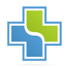 Vector cross medical logo
