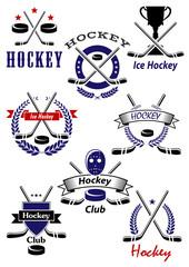 Ice hockey game and club symbols