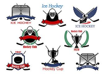 Ice hockey cup heraldic emblems