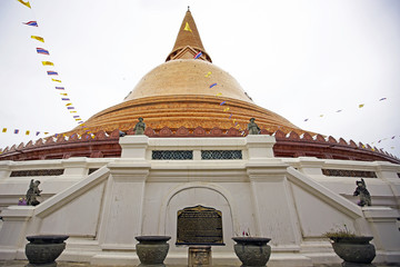 Phra Pathommachedi mThe stupa at the location is first mentioned in Buddhist scriptures